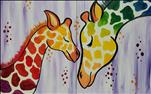 """Paint with the Kids"" Rainbow Giraffes - ALL AGES!"