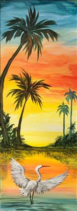 Bird in Paradise- Extra Long 10x30 Canvas!