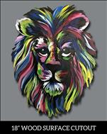**FAMILY FRIENDLY** Colorful Lion Cutout Upgrade