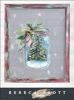 Rebeca Flott Arts Merry Little Mason Jar ScreenArt