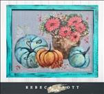 Rebeca Flott Arts Flowers in the Pumpkin Patch