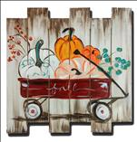 Fall Wagon Wood Pallet