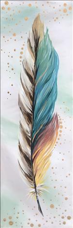 Metallic Feathers - Gold 10x30