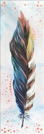 Metallic Copper Feather