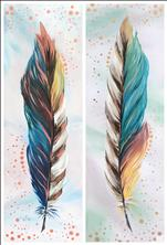 PAINT AS A PAIR OR SOLO! Metallic Feathers (21+)