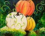 **COFFEE & CANVAS** Colorful Pumpkins ($10 off)