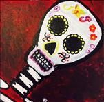 Day of Dead on 12 x 12 Canvas