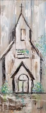 Farmhouse Church! Real Wood Board!
