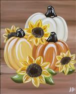 Rustic Pumpkins With Sunflowers