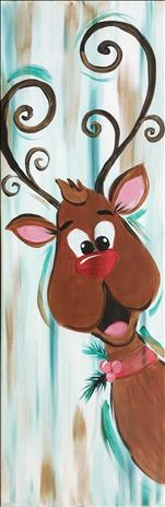 Coffee & Canvas, Peekaboo Reindeer
