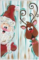 Peekaboo Holiday Set! Choose Santa or Rudolph!
