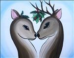 Deer Under the Mistledoe