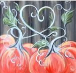 Love, Pumpkins, And Fall (12x12 canvas)