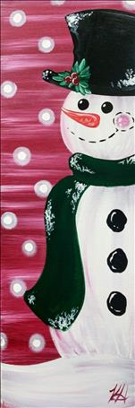 **YOUR CHOICE** Build a Snowman - Sip and Paint