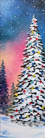 A Bright Christmas - Sip and Paint