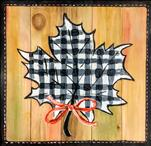 Buffalo Check Leaf Real Wood Board