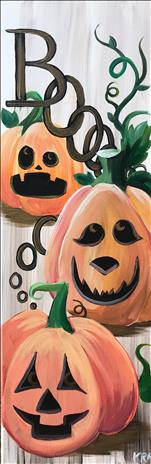 Boo-tiful Pumpkins (10x30 canvas)