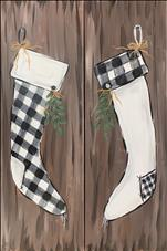 TALL ART  Plaid Stockings - Paint 1 or the Set!