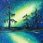 Galaxy Swamp on 12 x 12 Canvas