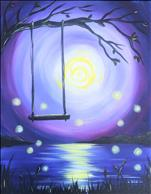 LIGHTED CANVAS Firefly Moonlight (21+)