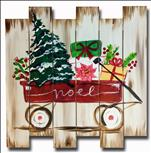 My Little Christmas Wagon! on a Wood Pallet!