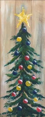 Open Class - Trim the Tree - Plank Board or Canvas