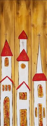 3 Churches Real Wood Board *Pick Your Surface*