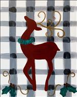 Rustic Reindeer on Plaid (Ages 10+)