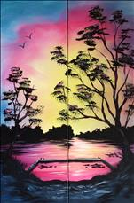 Beautiful Sunset 10x30  - Set or choose 1 side