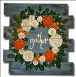 Citrus and Roses Wreath Pallet