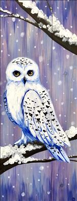 Snowy Owl on Real Wood Board
