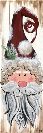 Farmhouse Santa-Wood or Canvas! 18+