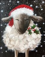 COFFEE & CANVAS! Snowy Lamb