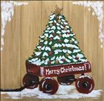 Red Wagon Christmas Tree, Choose your Surface!