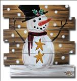 Holiday Snowman Wooden Pallet