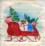 NEW ART: Sleigh Ride Real Wood Board