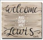 "Welcome Sign - Includes 6"" Changeable Cutout"