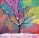 Snowy Tree Square Canvas (Ages 10+)