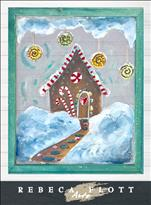 "Rebeca Flott Screen Art - ""Gingerbread House"""