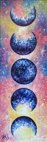 Lunar Love Galaxy on 10 x 30 Canvas