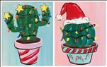 Retro Christmas Cactus Set, or Paint One!