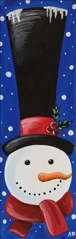 LIGHTED CANVAS! Frosty Top Hat (21+)