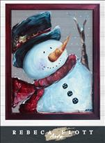 Rebeca Flott Arts - Mr. Snowman!- Screen Art!