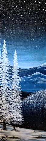 NEW! Starry Winter Long Canvas or Wooden Board
