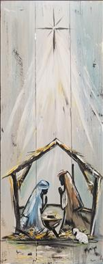 Rustic Farmhouse Nativity 10x30