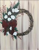 Christmas Cotton Wreath-GORGEOUS for Holidays! 18+