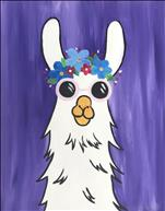 Hippie Party Llama - ALL AGES!