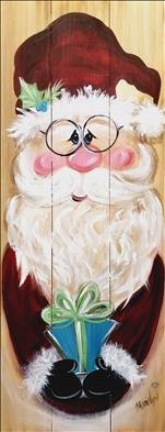 PUBLIC:  Cozy Farmhouse Santa Wooden Board