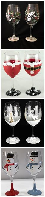 Pick Your Holiday Glassware Set of 2 glasses