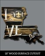 Black and Gold Love Cutout